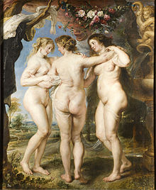 Image of The Three Graces, Peter Paul Rubens, circa 1635. From Wikimedia Commons.