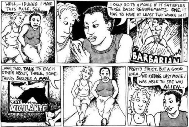 Bechdel test comic